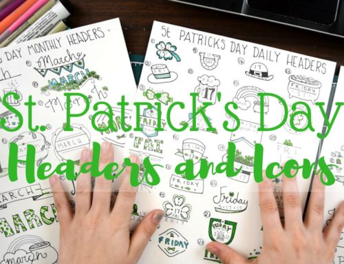 St. Patrick's Day for Bullet Journals