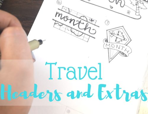 Travel Inspired Headers for Bullet Journals