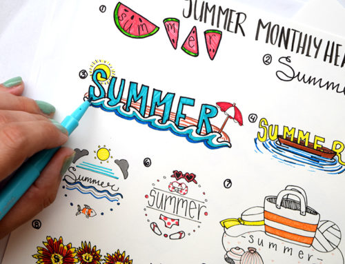 Summer Designs for Bullet Journals
