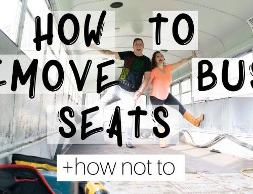 Removing School Bus Seats – Our Skoolie Conversion